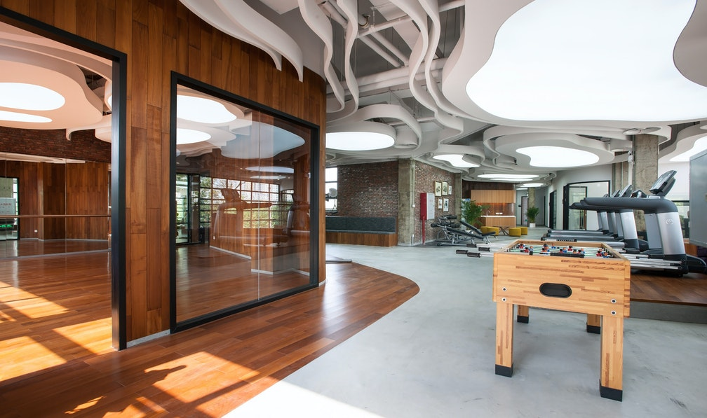 Developing a 21st century business space within a 20th century shell section