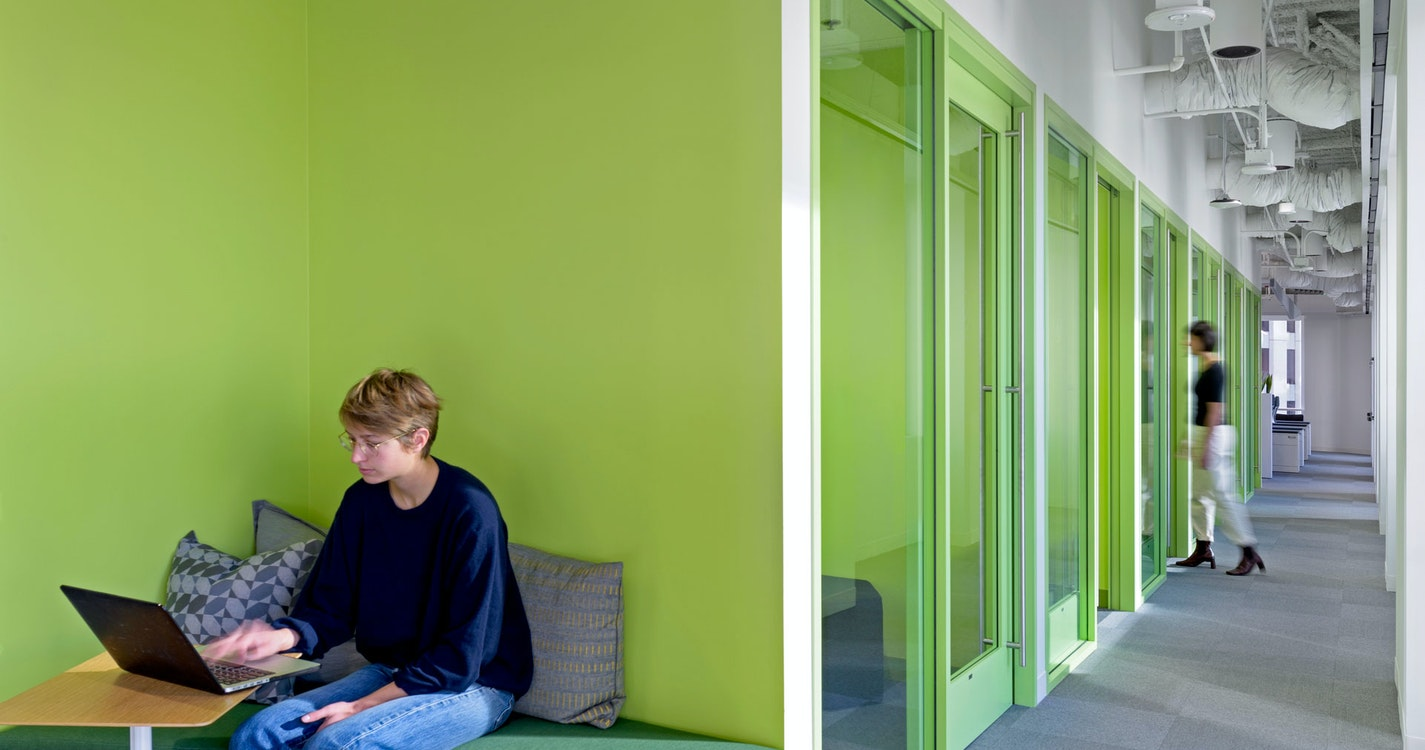 Capturing cultural evolution in a unique office design section