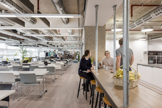 Using office design to build a culture of collaboration section