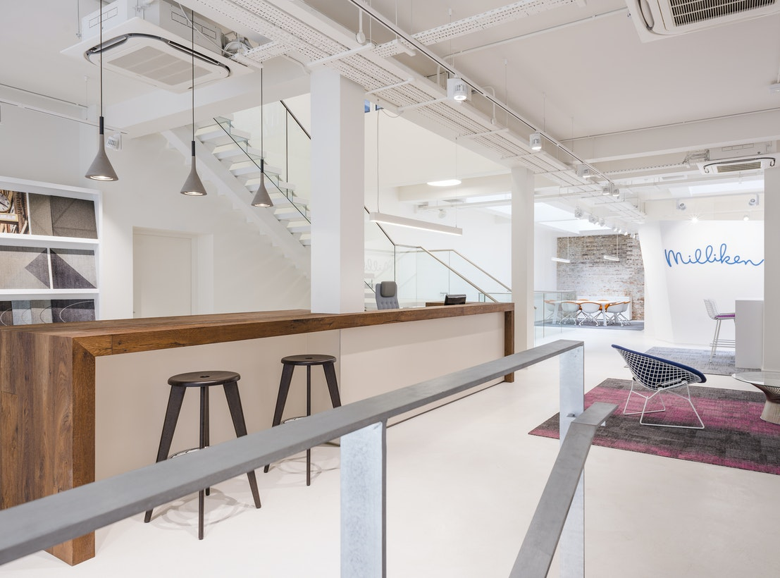 Delivering a neutral workplace design to elevate brand identity section