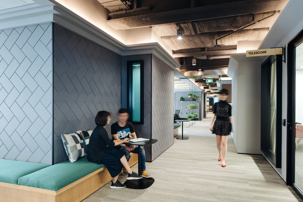 An inspiring workplace influenced by a variety of different themes section