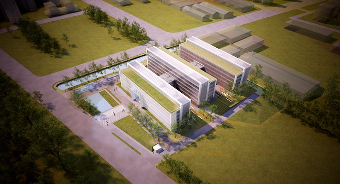 Combining cutting edge R&D with traditional Chinese building planning section