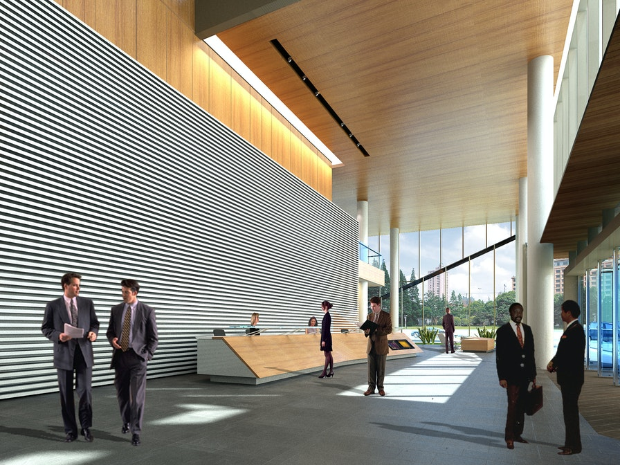 """An innovation centre that balances """"eat, live, work & play"""" activities section"""