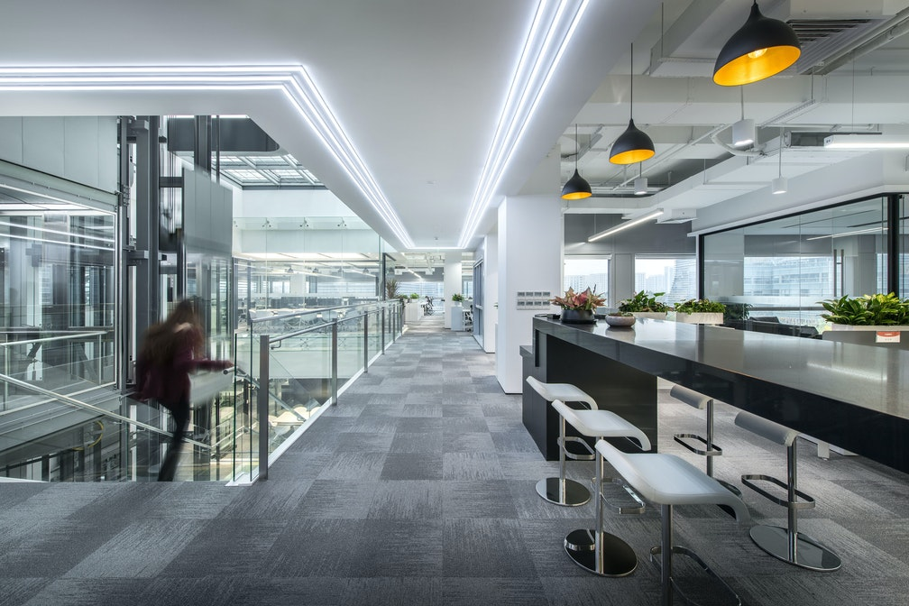 Relocating a corporate fintech headquarters to elevate employee success section