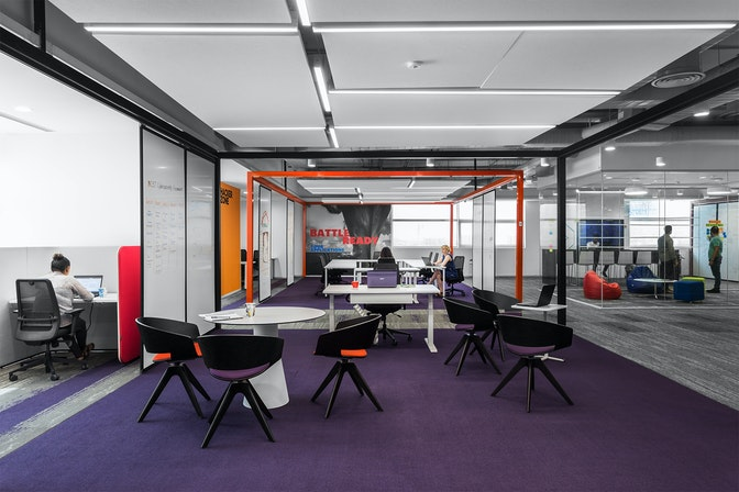 Inspiring a culture of innovation through a future-focused workspace section