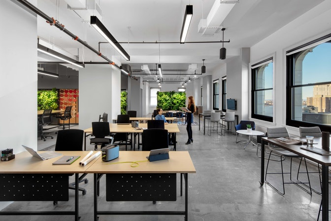 "A ""living lab"" to innovate future workplaces section"