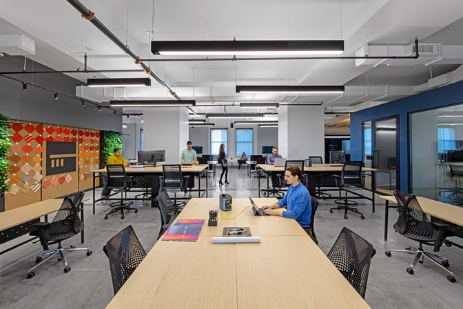 """A """"living lab"""" to innovate future workplaces section"""