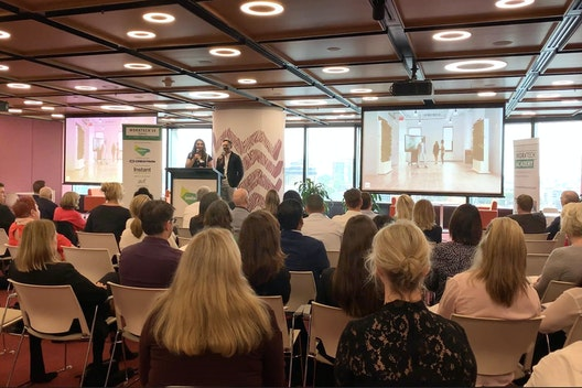 Sharing expertise on creating transient work environments at WORKTECH19 Sydney section