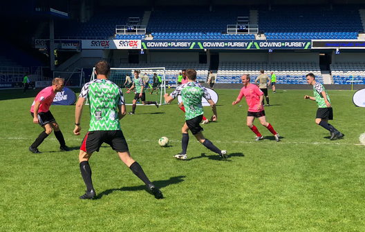 Taking part in the UK's first Mental Health World Cup section