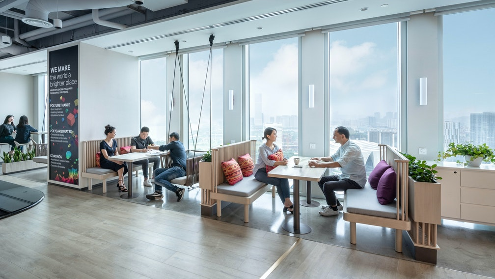Enhancing workplace engagement through change management and wellness design section