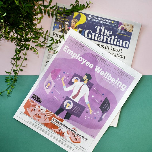 """The Guardian - """"Employee Wellbeing"""" campaign."""