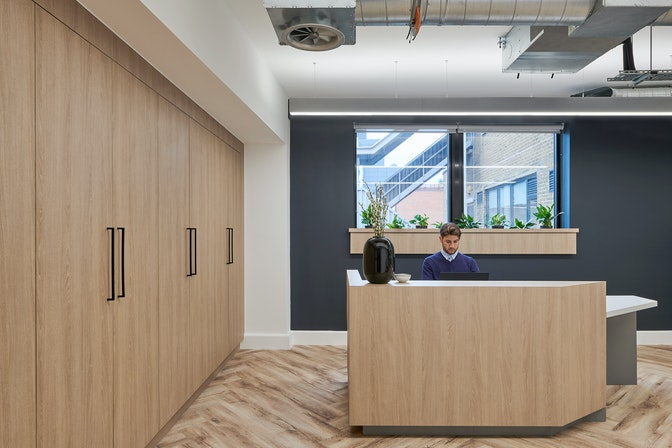 A showcase office space to engage prospective tenants section