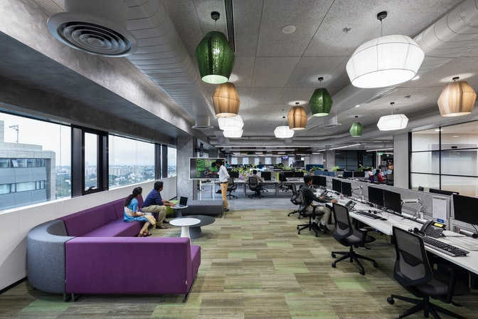 "Digitising a scalable workplace to pilot a ""future office"" concept section"