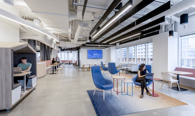 A dynamic workplace to redefine the purpose of the physical office section