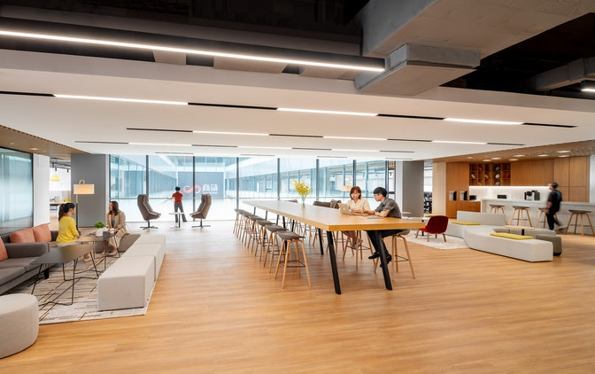 Creating a human-centric, high-tech headquarters for a unicorn company section
