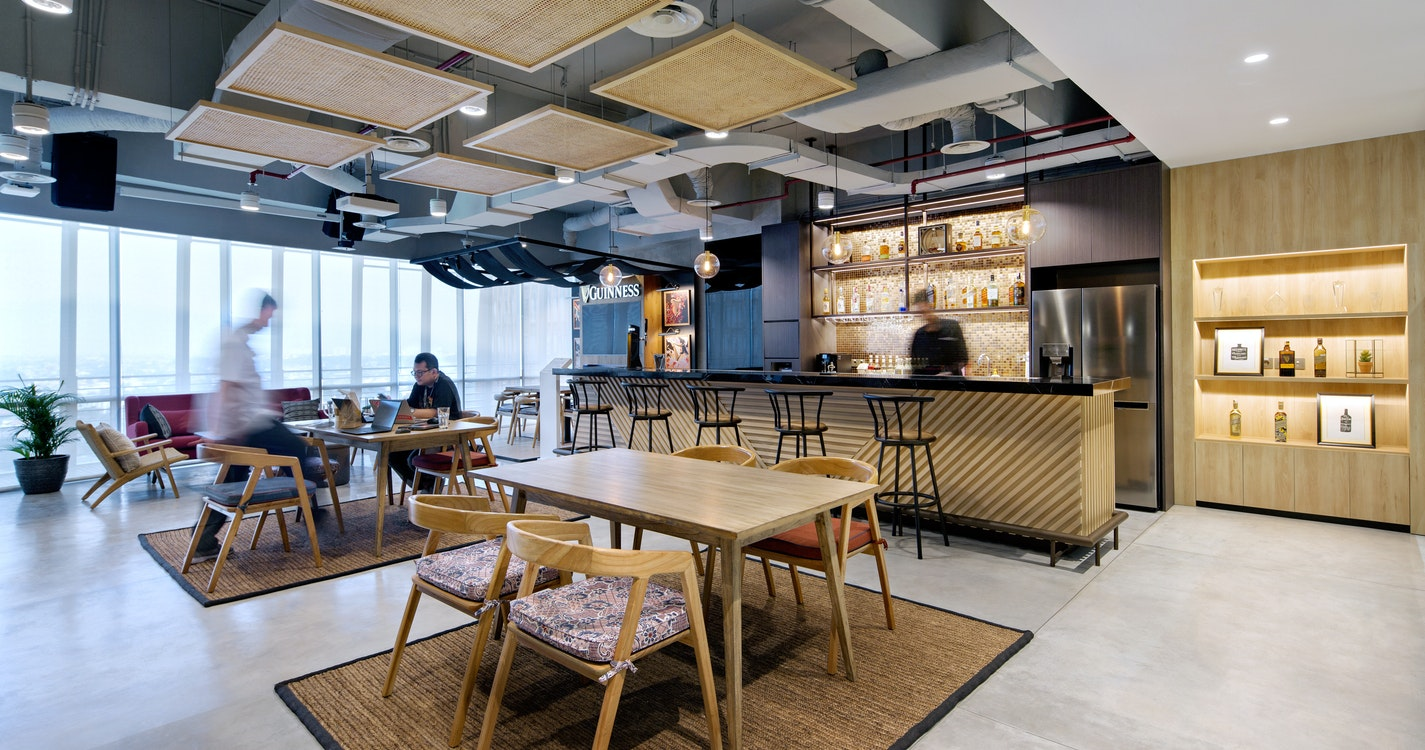 Intertwining company and local cultures into one workplace experience section