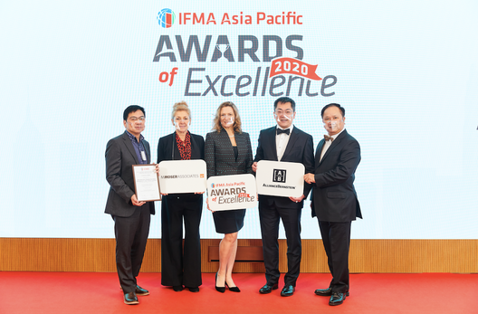 Our work with AllianceBerstein receives an IFMA Asia Pacific Award of Excellence section