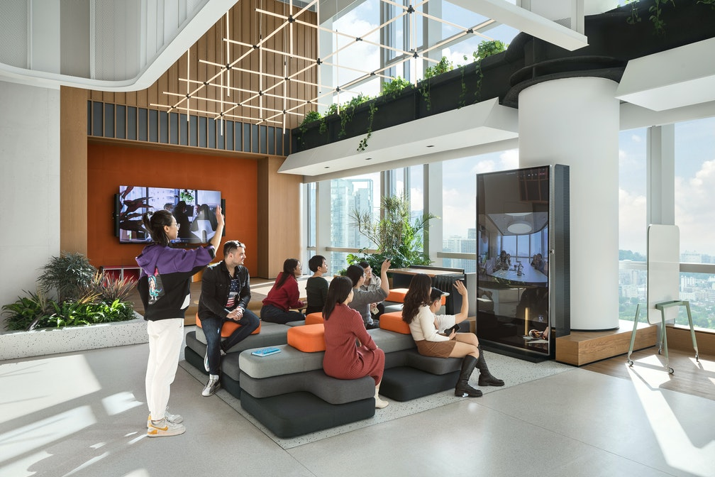 M Moser's Shenzhen living lab reveals a new prototype for the future workplace section