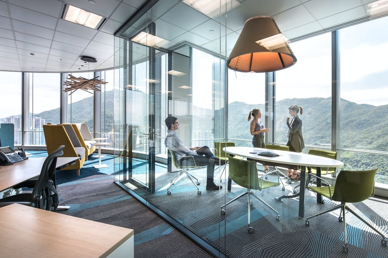 The new space feels energetic with dedicated areas for hosting events and promoting collaboration